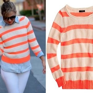 J. Crew Twisted stitch sweater on Neon Stripe